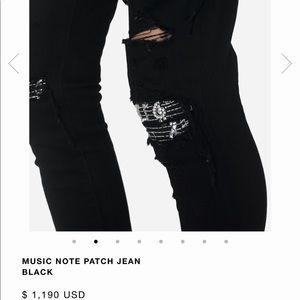 COPY - AMIRI Music Note Patch Jeans Waist Size 29…